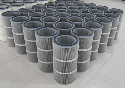 螺旋压盖防水防油除尘滤筒